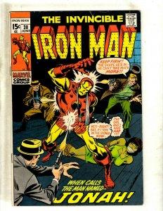 Iron Man # 38 FN/VF Marvel Comic Book Avengers Hulk Thor Captain America J462