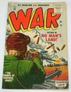War #36 VG/FN july 1955 - golden age atlas comics - russ heath cover