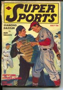 Super Sports 7/1940-Blue Ribbon-David Goodis story-baseball-boxing-tennis-VG
