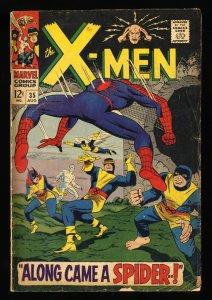 X-Men #35 GD/VG 3.0 Spider-Man! 1st Changeling!