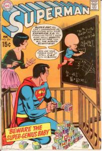 SUPERMAN 224 G-VG Feb. 1970 COMICS BOOK