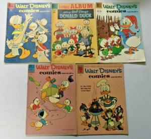Carl Barks Donald Duck lot 10 different books VG condition (silver age era)