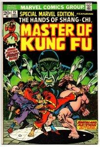 SPECIAL MARVEL EDITION #15, VF/NM, 1st Master of Kung-fu, 1973 Marvel