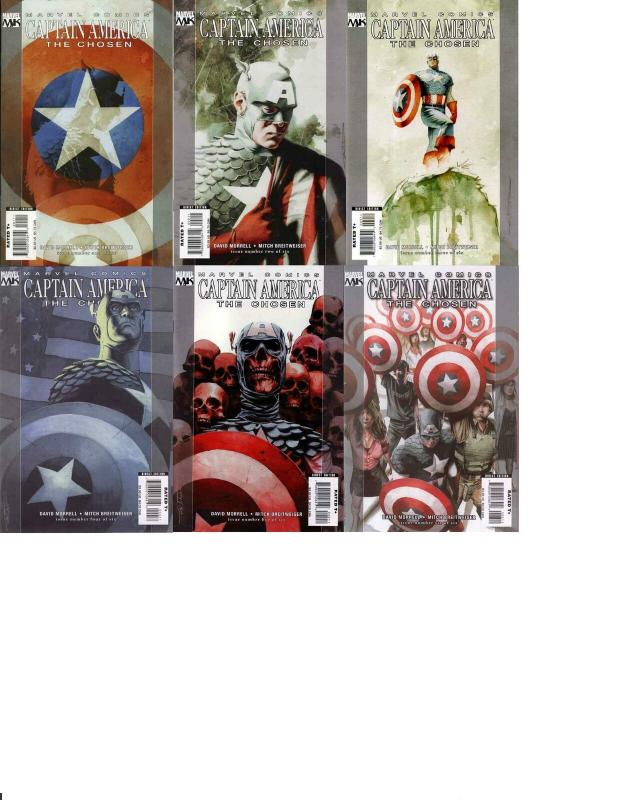 CAPTAIN AMERICA CHOSEN (2007) 1a-6a  COMPLETE! COMICS BOOK