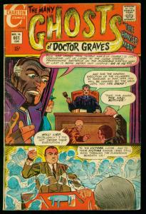 THE MANY GHOSTS OF DOCTOR GRAVES #16 1969-CHARLTON COMICS-DITKO ART- g/vg