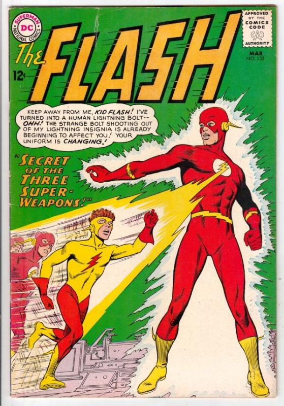 Flash, The #135 (Mar-63) FN/VF+ High-Grade Flash