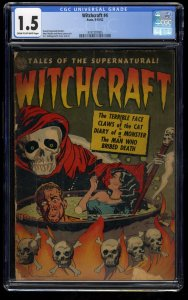 Witchcraft #4 CGC FA/GD 1.5 Cream To Off White