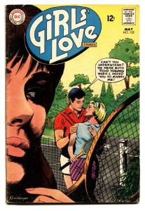 GIRLS' LOVE STORIES #135 DC ROMANCE-TENNIS COVER VG
