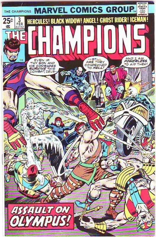 Champions, The #3 (Feb-76) VF/NM Super-High-Grade Ghost Rider, Hercules, Blac...
