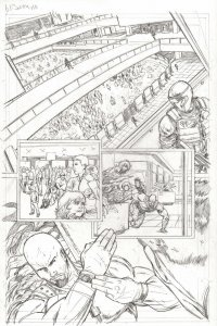G.I. Joe #4 pg 10 COBRA HOSTAGES ROADBLOCK Pencil Art Steve Kurth
