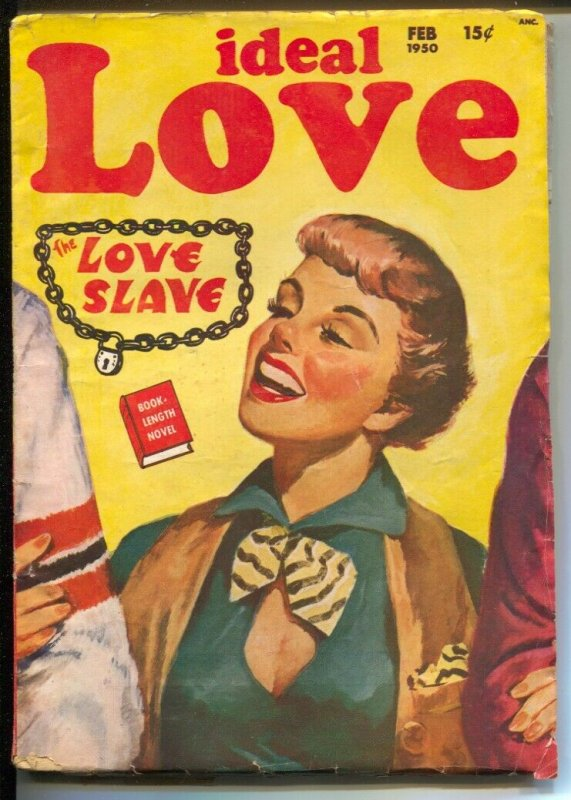 Ideal Love 2/1950-female pulp authors-pin-up girl cover art-Peggy Gadsen-FN-
