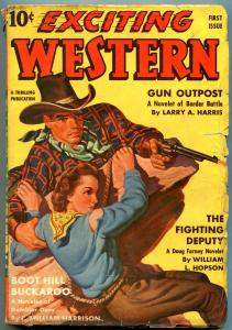 Exciting Western Pulp #1 Fall 1940- Doug Farney- Larry Harris G/VG