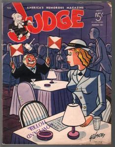 Judge 2/1945-jokes & cartoons- WWII era issue-Bill Wenzel-James Gibson-VG