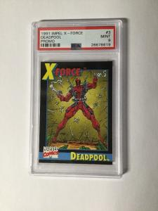 Deadpool Impel #3 X-force 1 Promo Trading Card PSA Graded 9 Mint 2nd Appearance