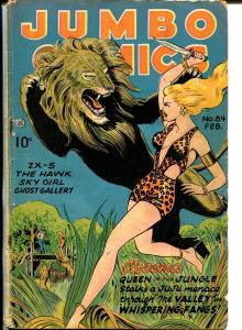 Jumbo #84 1946-Fiction House-Sheena-Hawk-Ghost Gallery-Sky Girl-G/VG