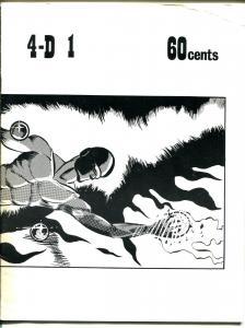 4-D #1 1972-1st issue-classic fanzine-Isaac Asimov-Robert Bloch-Otto Binder-VG