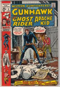 Western Gunfighters #5 (Jun-71) VF High-Grade Ghost Rider, Wyatt Earp, Black ...