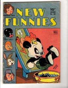 New Funnies # 100 VG Dell Golden Age Comic Book Walter Lantz Oswald Andy JL10