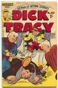Dick Tracy #40 1953- Australian comic book- F/VF