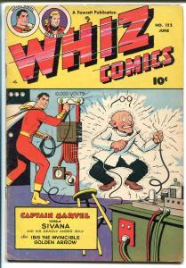 Whiz #122-1950-Fawcett-Capt Marvel-Sivana-Ibis-Golden Arrow-FN