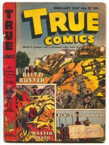 True Comics #57 1947- Everest- Stalin VG