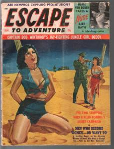 Escape To Adventure 9/1964-bound women tortured by Nazi-Syd Shores-VG