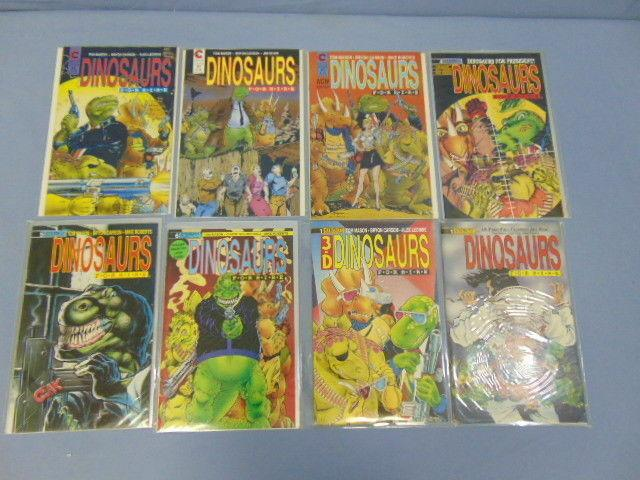 Dinosaurs For Hire Eternity Comics Adventure Comedy Issues #1 to #6 w/ Extras