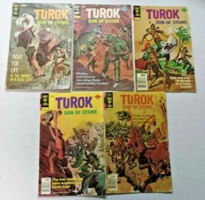Turok Son of Stone lot 5 different books unknown condition (1956)