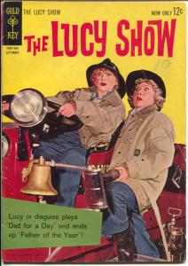 Lucy Show #2 1963-Gold Key-Lucille Ball-Vivian Vance-firefighters-TV show-VG