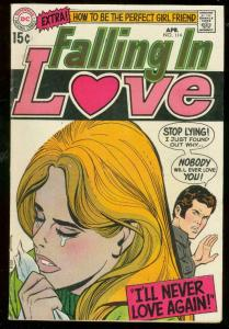 FALLING IN LOVE #114 1970-DC ROMANCE COMIC-PERFECT GIRL FN