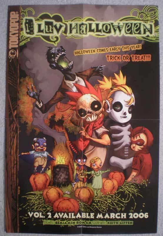 I LUV HALLOWEEN Promo poster, 12x18, 2006, Unused, more Promos in store