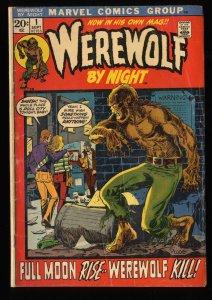 Werewolf By Night #1 GD+ 2.5