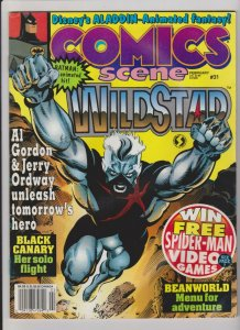 COMICS SCENE #31 (1992) NEWSTAND FIRST PUBLISHED IMAGE OF HARLEY QUINN