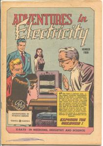Adventures in Electricity #4 1947-GE-Exposing The Unknown-VG
