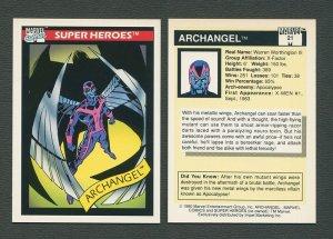 1990 Marvel Comics Card  #21  (Archangel)   NM-MT