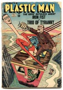 Plastic Man #50 1954- IRON FIST commie menace FR