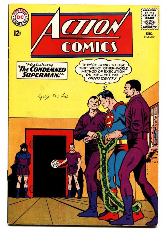 ACTION COMICS #319 comic book 1964-SUPERMAN-SUPERGIRL-KRYPTONITE VF