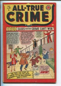 ALL-TRUE CRIME #33 1949-MARVEL-VIOLENT-GUN MOLLS-GANGSTERS-GUNFIGHTS-fn minus