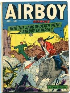 AIRBOY COMICS V.7 #12 1951-WILD INDIA CVR-HANNIBAL-HEAP FN-