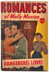 Romances of Molly Manton #2 1949- Rare Marvel Comic- Dangerous Love VG