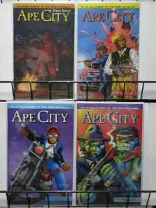 APE CITY (1990 AD) 1-4 Planet of the Apes/ akien Nation