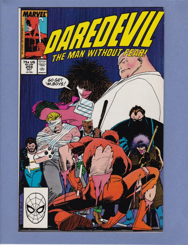 Daredevil #259 NM- Kingpin John Romita Jr / HipComic
