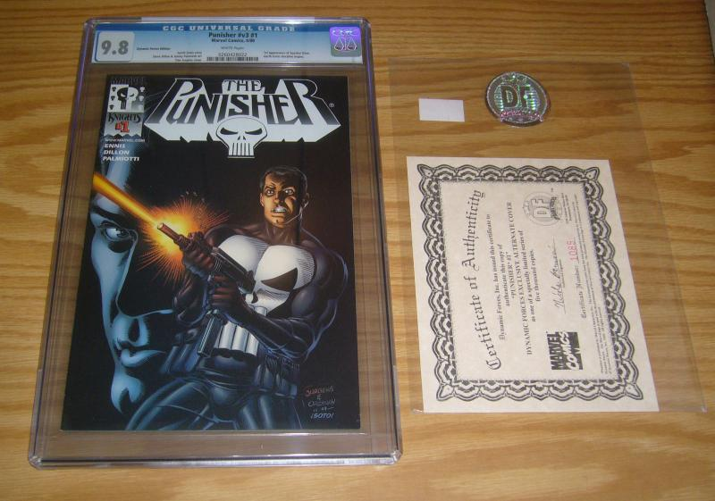 Punisher #1 CGC 9.8 dynamic forces variant w/ COA (limited to 5,000) garth ennis