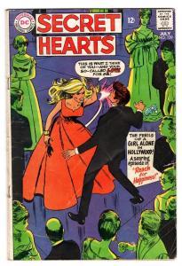 SECRET HEARTS #129 comic book-1968-Woman Slaps Man-DC ROMANCE