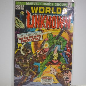 Worlds Unknown #3 (1973) NM Unread  Day the Earth Stood Still Rare Issue