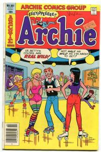 Archie Comics #301 1981- Betty & Veronica- Decarlo rollerskates cover