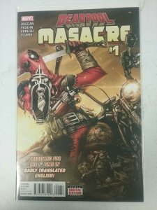 Deadpool Masacre #1 Marvel Comic 2016 NW142