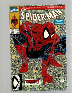Spider-Man # 1 NM SIGNED By Todd McFarlane Marvel Comic Book Venom Carnage SB5