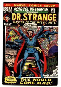 Marvel Premiere #3 comic book First Dr. Strange issue-1972-Marvel
