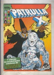La Patrulla X volumen 1 numero 041: una era impensable (numerado 1 en trasera)